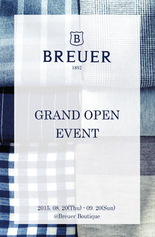 [BREUER] GRAND OPEN EVENT